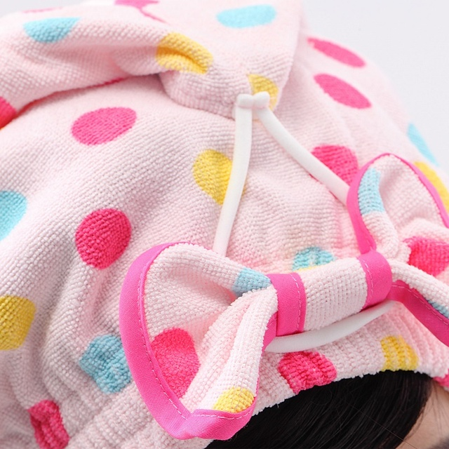 New Hot selling creative Cogit Hair Care Water Sucking Headcloth Dotted Shape, Cute design, Easily dry your hair made in  Japan