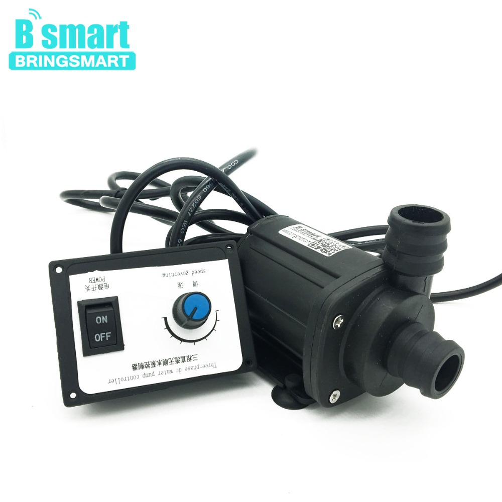 Free shipping JT-1000A3-24 2000L/H 12V 3000L/H 24v Mini DC Brushless Booster Pump 3 phase Adjustable Speed Water Pump Bringsmart bringsmart jt 280at 12v dc brushless submersible water pump 24v circulating computer cooling pumps free shipping