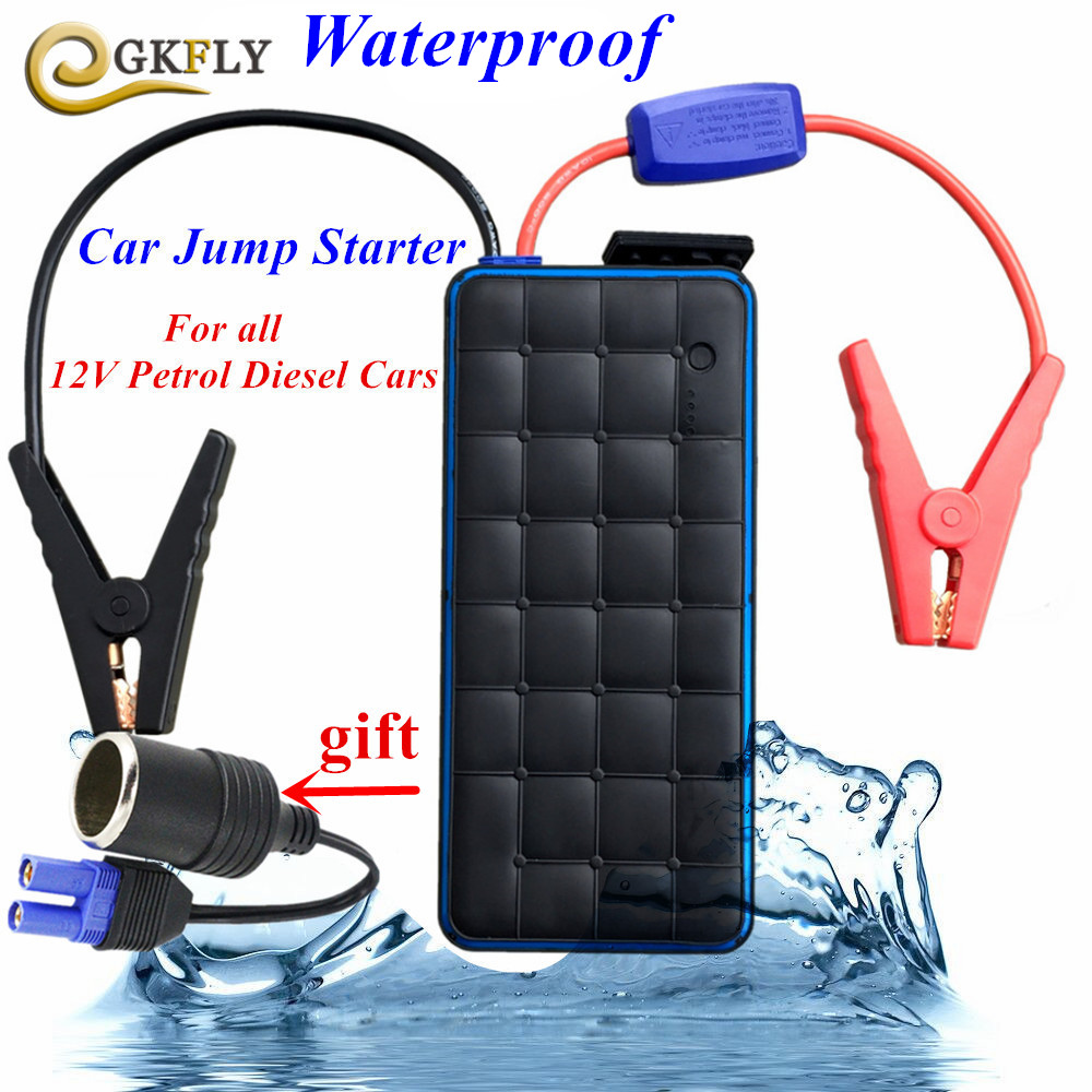 Waterproof 12V Car Jump Starter High Power Bank 1000A Peak Auto Battery Portable Emergency Charger for Petrol and Diesel Starter 4 4 electric violin solid wood 9 28 black color 4string
