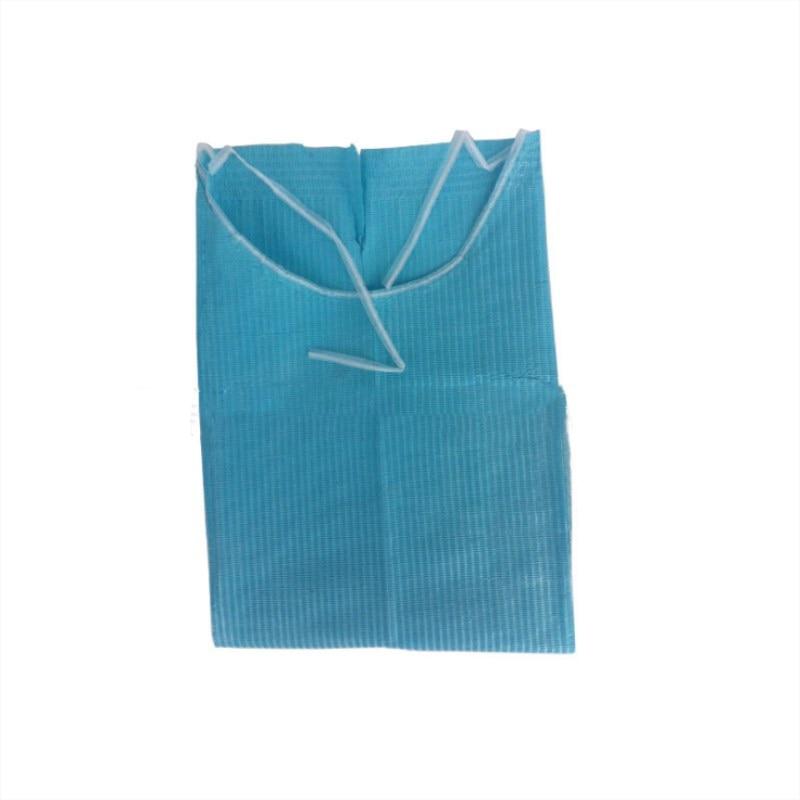 60 Pcs Dental Disposable Neckerchief Dental Blue Medical Paper Scarf Dental Materials Medical Beauty Shop Protect Pad Bibs