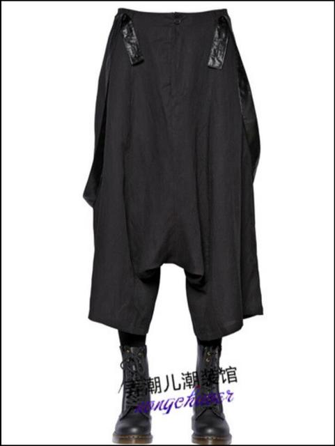 63601a88c2e 27-44 Fashion Men New wide leg pants culottes Europe and United States tide  loose