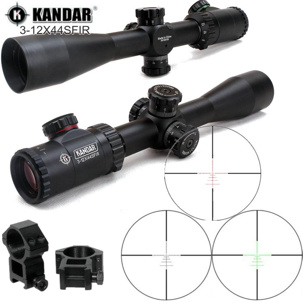KANDAR Kaspa 3-12X44SFIR ILL Ballistic-X Tactical Riflescope Airsoft Air Gun Shooting Hunting Rifle Scope