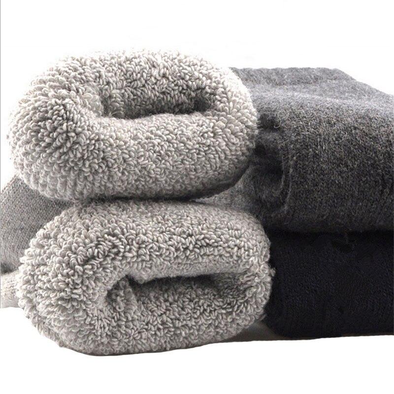 Мужские Шерсть Носки для девочек утепленные Термальность Носки для девочек мужские зимние теплые мягкие экипажа носки Удобные однотонные ... ...