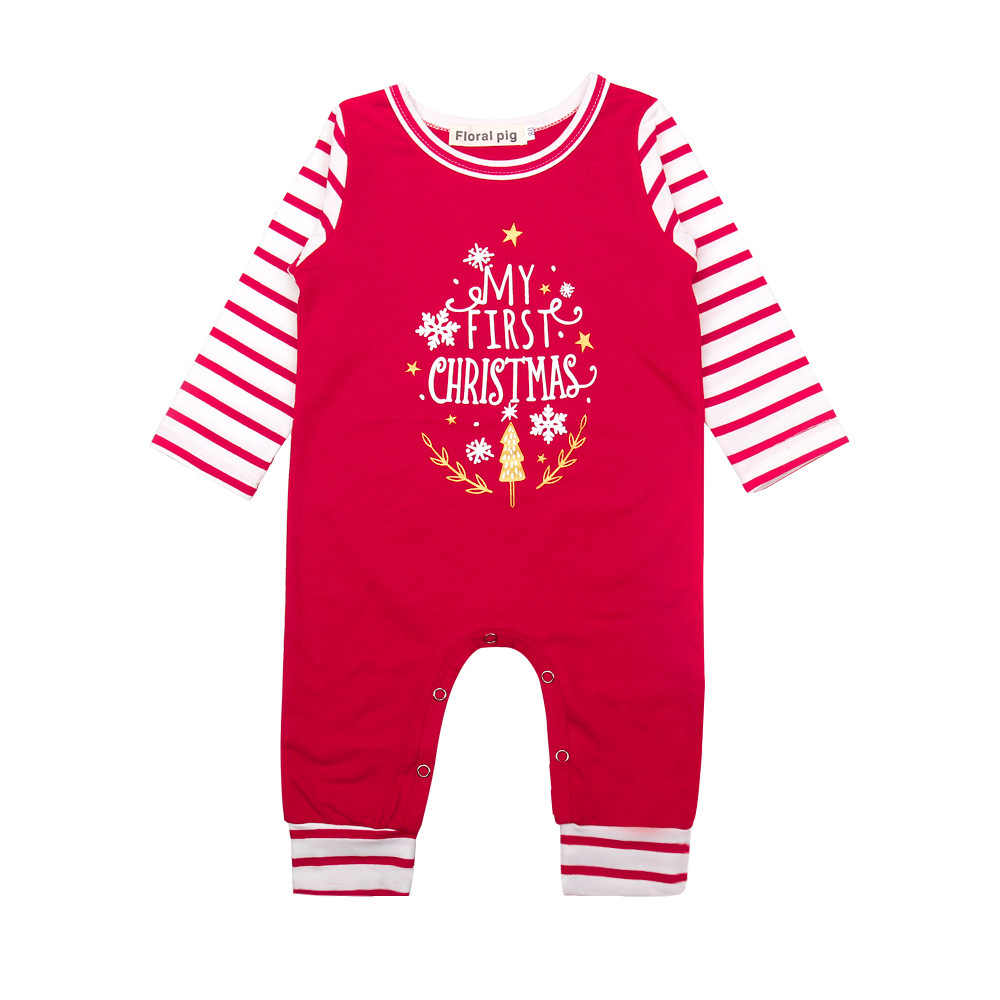 1d4871efb30c Detail Feedback Questions about Floral Pig Baby Christmas Romper My ...