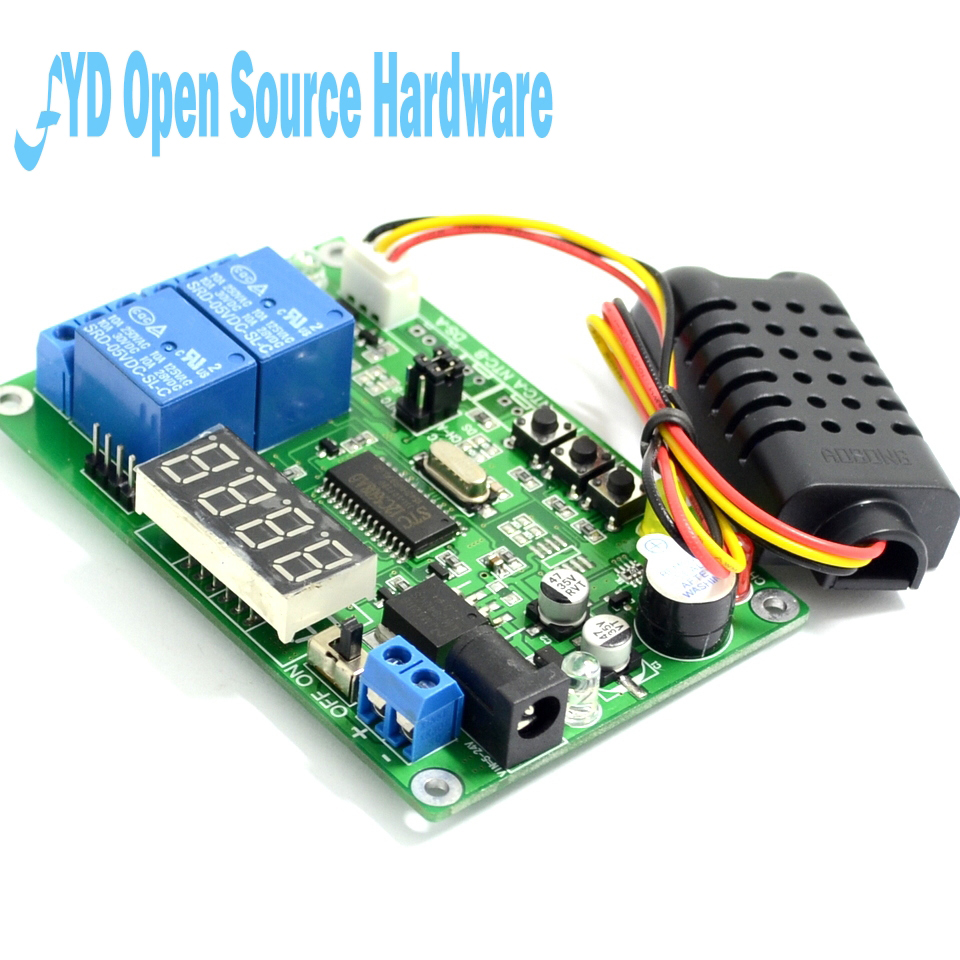 Hot Sale Digital Temperature Humidity Controller Control Module Indicator Circuit Intelligent Thermal Regulator Relay With Led Alarm Function