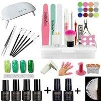 6pcs Gel Polish Nail Art Set with Nail Lamp Dryer Mini Manicure Machine Set Lak Gel Nail Polish Set Gel Varnish Kit