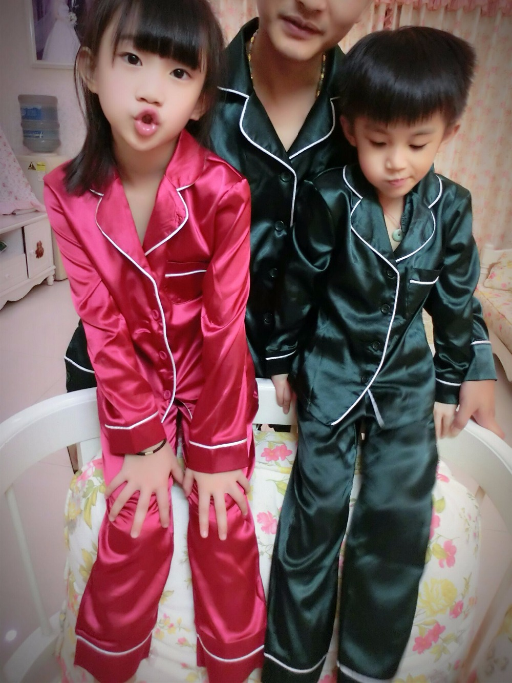 christmas pajamas family matching clothes father mother and boys ...