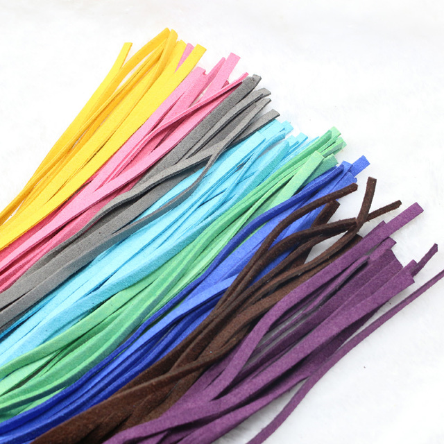 Bunte Kabel wildleder stoff kabel flach bunte samt lederschnur seil 5 mm diy