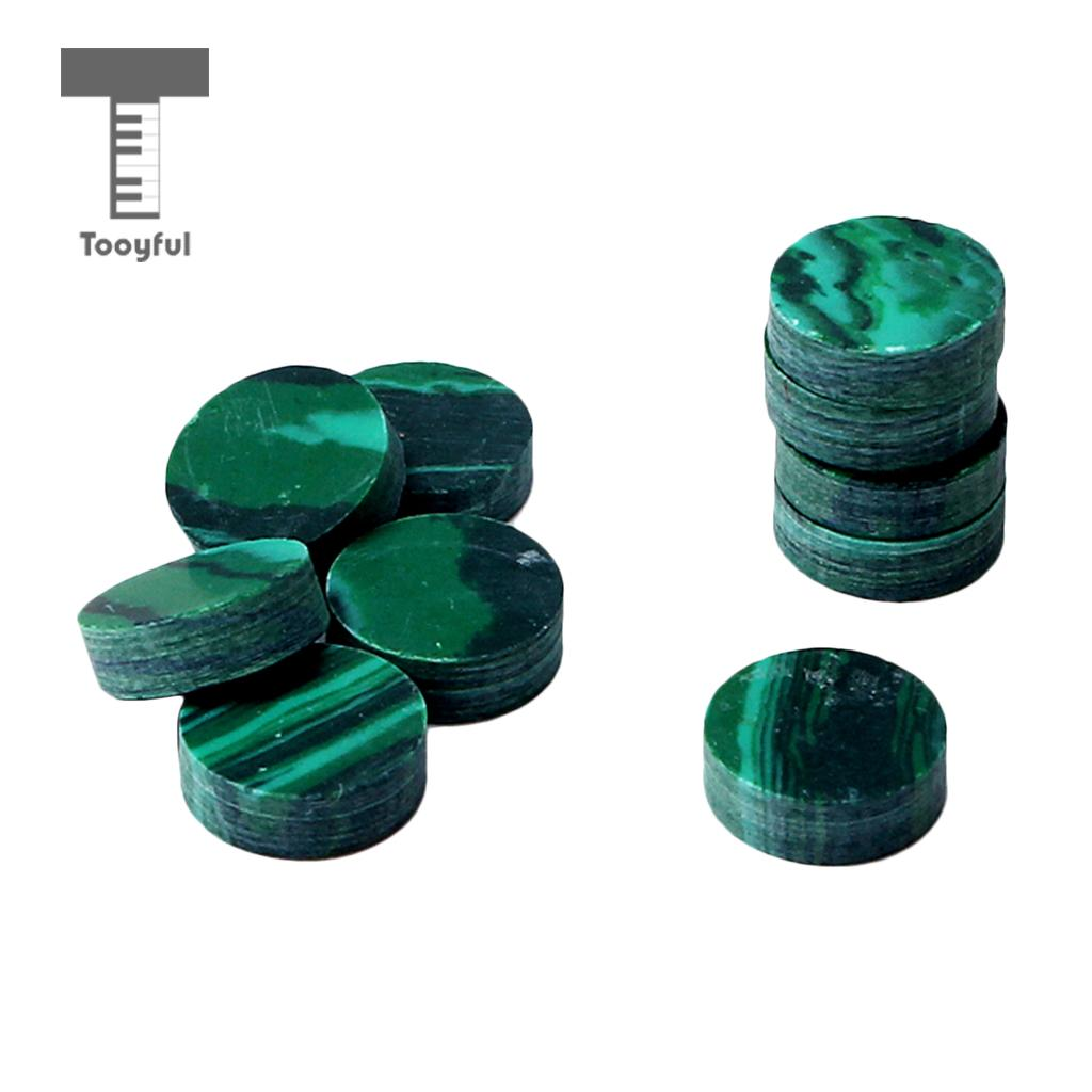 Aggressive Tooyful 10x Guitar Bass Fingerboard Inlay Dots Decal Markers Decal Malachite 6.3x2mm To Enjoy High Reputation In The International Market Guitar Parts & Accessories Musical Instruments