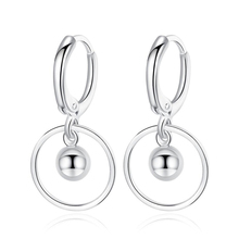 KOFSAC 2019 925 Sterling Silver Hoop Earrings For Women Jewelry Fashion Circle Round Earring Lady Engagement Wedding Accessories