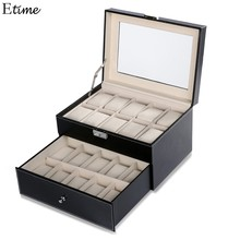 Storage Box Case Leather Square jewelry