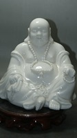 China Dehua Old White Porcelain Hand carved excellent Buddha old statue Porcelain statue home decoration