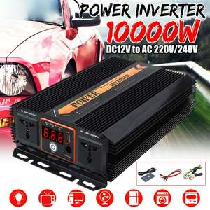 Image 1 - KROAK Power Inverter Max 10000W DC 12 V to AC 220V 240 Volt Car Adapter Charge Converter Modified Sine Wave USB Transformer