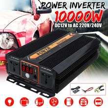 KROAK inversor de corriente para coche, convertidor de carga, transformador USB de onda sinusoidal modificada, máximo 10000W DC 12 V a AC 220V 240 voltios