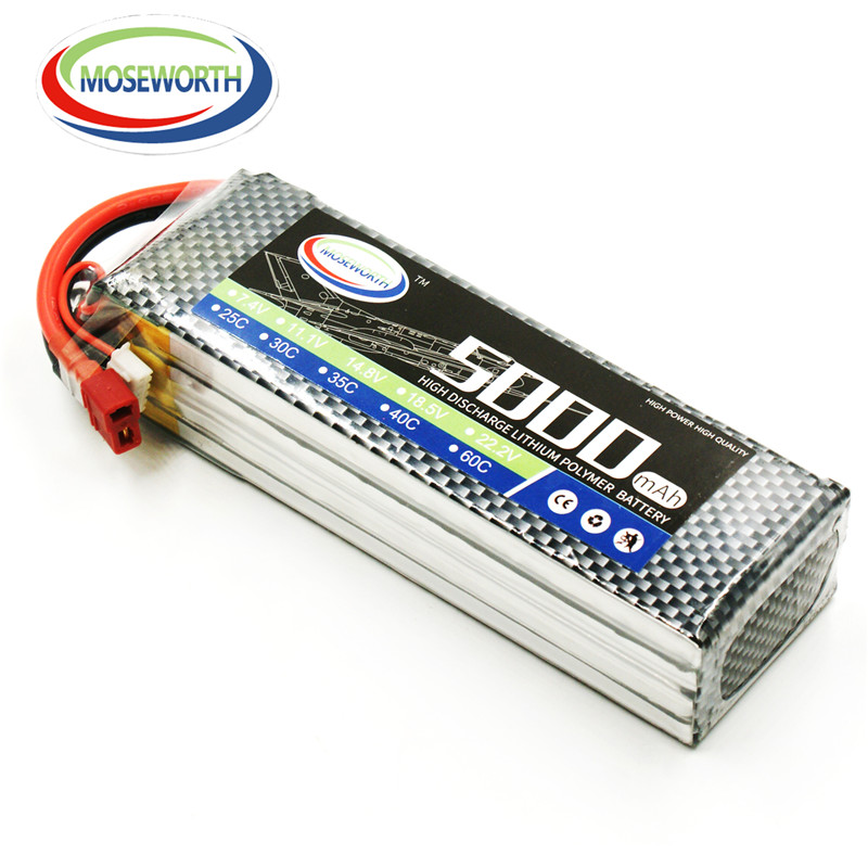 MOSEWORTH 4S 14.8v 5000mah 30c RC drone lipo battery for rc airplane helicopter quadcopter li-ion batteria akku