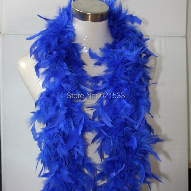 ROYAL BLUE turkey feather boa for hats, headdress, headband, hair clips, children dress up,2 yards/lot!55grams freeshipping