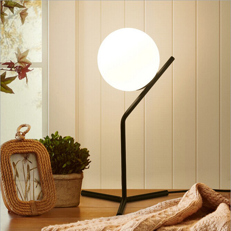 ᓂnew Nordic Simple Postmodern Style Table Lamp Glass Ball Lamp
