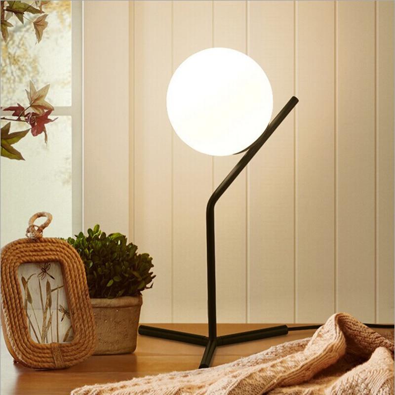 New Nordic Simple Postmodern Style Table Lamp Glass Ball Lamp Lampen Table Light Deco Lampe Post Modern Lights Lighting