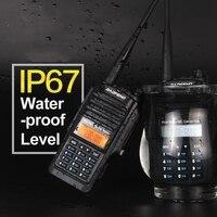 Waterdichte nieuwste dual band IP 67 baofeng A58 walkie talkie VHF UHF politie apparatuur CB Radio A58 walkie talkie walkie talkie