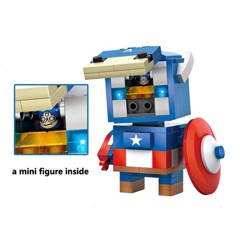 Captain America Mini Figur Bausteine