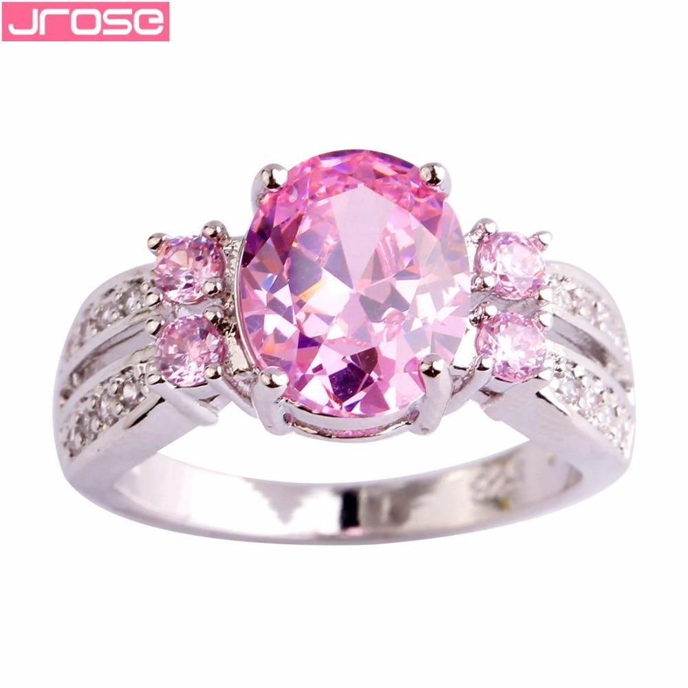 JROSE Bride Fashion Oval Cut ვარდისფერი და - მოდის სამკაულები - ფოტო 2