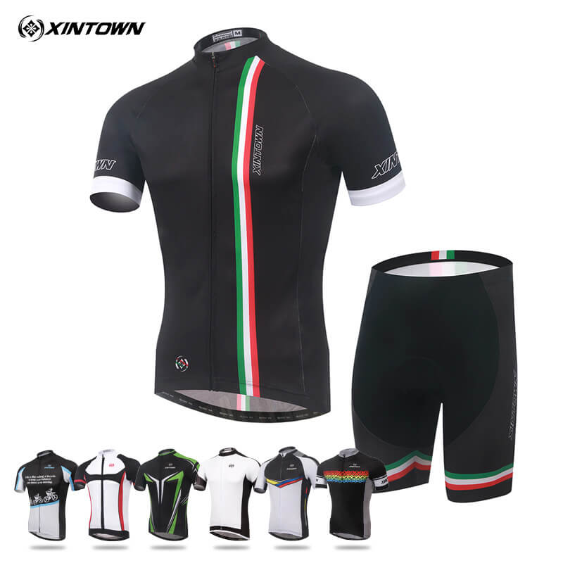 XINTOWN Cycling Jersey Set Outdoor Ropa Ciclismo Men Team Sportswear Suit Bike Clothing Breathable Quick Dry