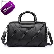 Aliwood frauen des Echten Leders handtaschen Messenger Bags Diamond Niet Crossbody taschen für Frauen Marken Knitting Tote Bohnen