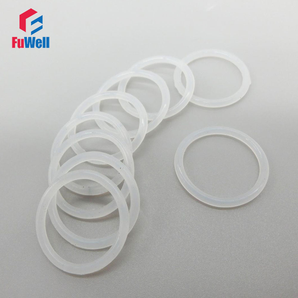 White Silicon O Ring Gasket 2.4mm Thickness Food Grade Rubber O Rings Seals Gasket Washer OD 47/48/50/52/54/55/58/60/62/65mm White Silicon O Ring Gasket 2.4mm Thickness Food Grade Rubber O Rings Seals Gasket Washer OD 47/48/50/52/54/55/58/60/62/65mm