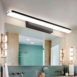 Lustro światło przednie LED wodoodporna i przeciwmgielna łazienka nowoczesna prosta lampa toaletka w Wewnętrzne kinkiety LED od Lampy i oświetlenie na