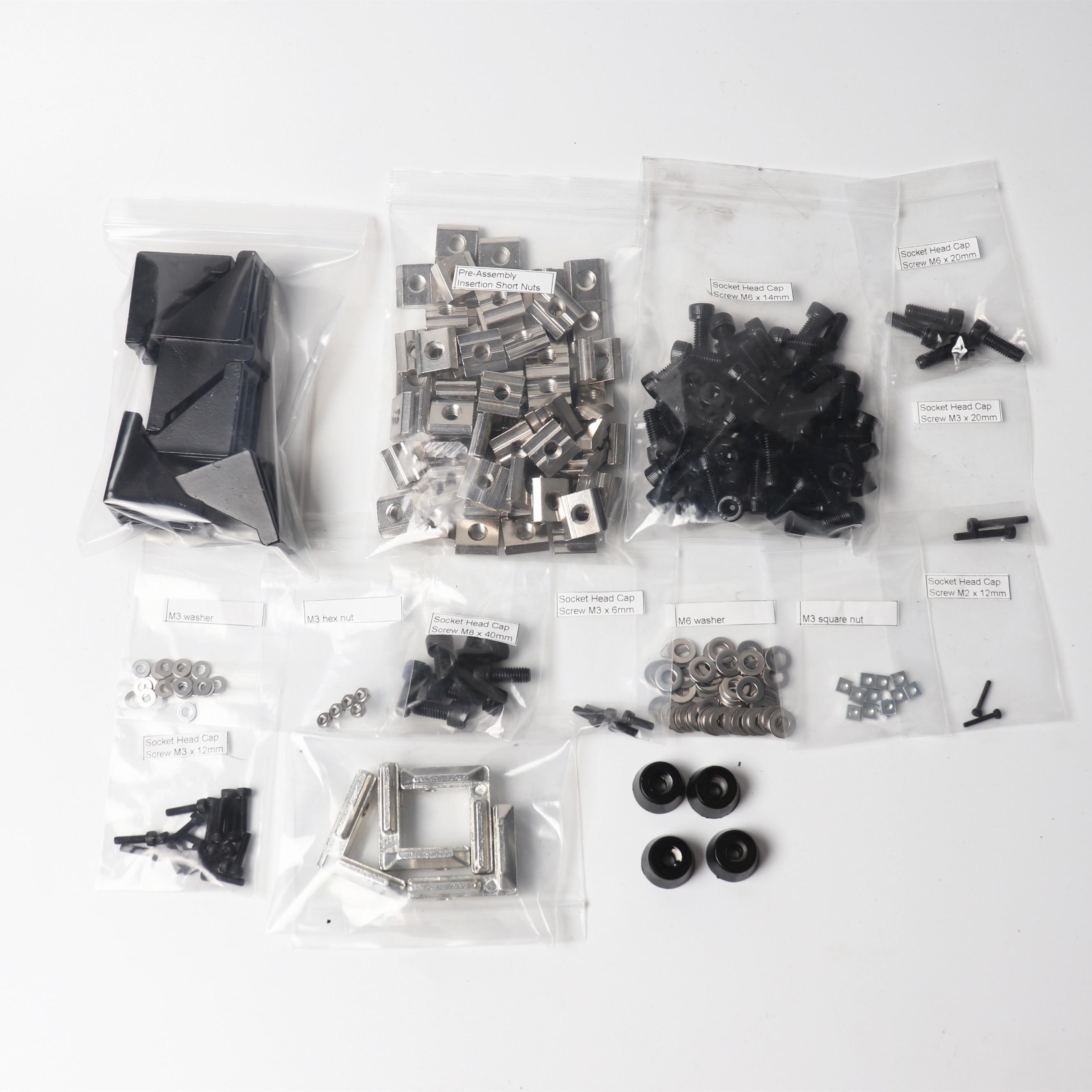 Screws nuts kit for upgrading  Prusa i3 mk2/mk3 Zaribo/Haribo 3d printer DIY