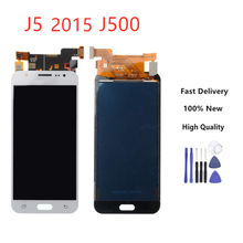 5.0'' For Samsung Galaxy J5 j500 2015 J500F Adjustable Lightness J500H J500FN J500M J500Y Touch Screen Display Assembly+Tools touch digitizer lcd display assembly gold for samsung galaxy j5 j500 j500f j500y j500m