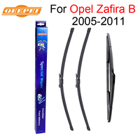 QEEPEI Front and Rear Wiper Blade no Arm For Opel Zafira B 2005 2011 High quality Natural Rubber windscreen 28''+22''R|rear wiper blade|rear wiper|wiper blade arm -