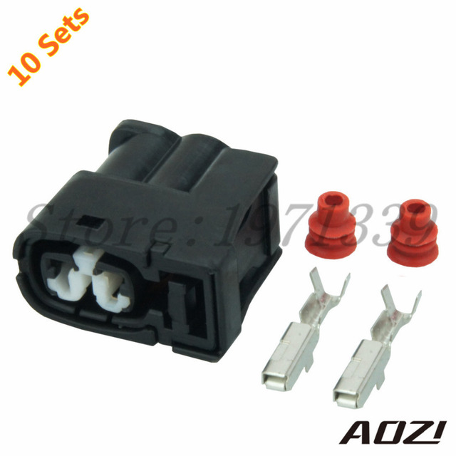 10 Sets Kit Auto Wire Harness Connector 2 Pins Waterproof Sealed