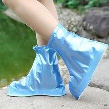 Unisex Anti-Slip 1 Pair Waterproof Protector Shoes Boot Cover  Zipper Rain High-Top Cases