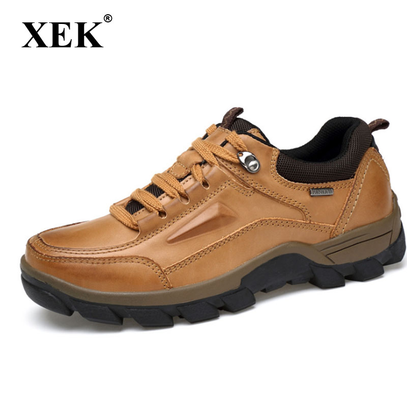 XEK Men Fashion Plus Size high quality men s boots Men Boots Vintage Full Genuine Leather
