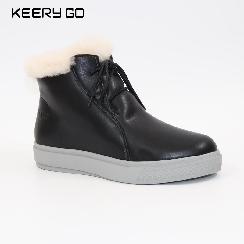Cowhide wool and fur in one boots snow boots 35 - 40