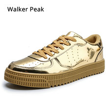 Men Vulcanized Shoes Simple Round Toe Casual Shoes Mens White Daily Shoes Footwear Male Big Size 36-47 Fashion Brand Walkerpeak