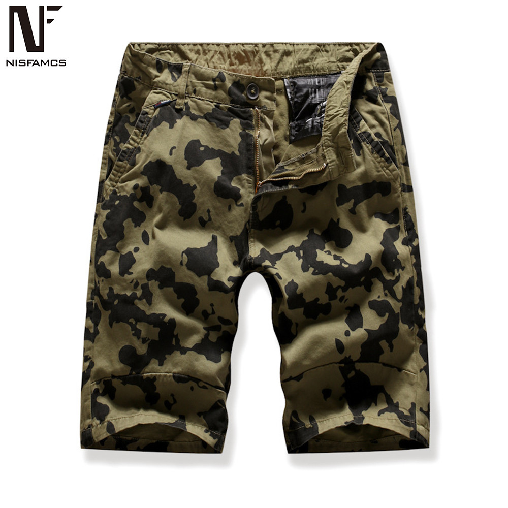 Hot Sale Shorts Men Party Fitness Boardshorts Summer Camouflage Streetwear Punk Rock Work Out Shorts Mens Harajuku Beach Clothes