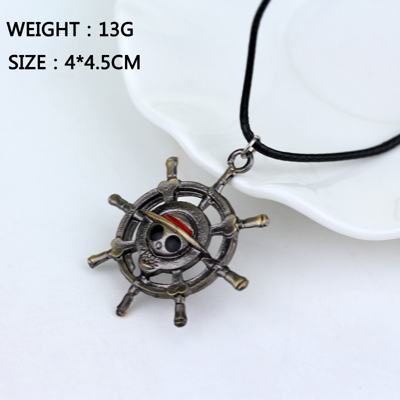 Anime <font><b>One</b></font> <font><b>Piece</b></font> Logo Necklace Luffy Ace Nami Chopper Zoro <font><b>Sanji</b></font> Robin Boa Hancock Necklaces Pendants Accessories Figure Toy Gift image