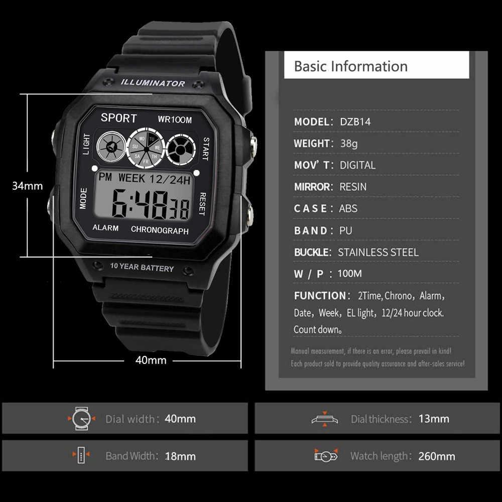 יוקרה גברים אנלוגי דיגיטלי צבאי צבא ספורט LED עמיד למים שעון יד אלקטרוני יד שעונים Relogio Masculino mens שעונים