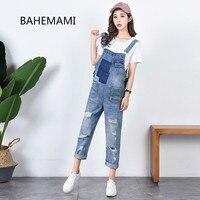 BAHEMAMI Denim Overalls Maternity Jeans Straps Pants For Pregnant Women Clothes Pregnancy Braced Suspender Jumpsuits Rompers
