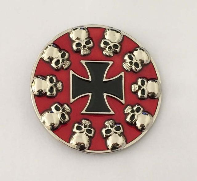 Color rojo cráneo y Cruz hebilla SW-BY592 adecuado para 4 cm wideth broche de presión en la correa con el stock continuo