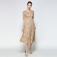 Elegant Party Women Dress Lace Short Sleeve Ladies Maxi Dresses Autumn Zaful Sexy Evening Vintage Dress