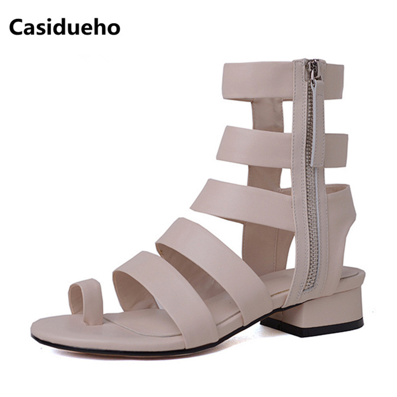 Casidueho Summer Women Sandals Rome Short Boots Flats Dress Shoes Woman Peep Toe Ankle Booties Rome New Strap Sandalias Big Size 2017 brand new women short designer boots flat dress shoes woman gladiator big size cool rain booties outwear casual shoes