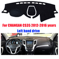 Car dashboard covers mat for CHANGAN CS35 2012-2016 years Left hand drive dashmat pad dash cover auto dashboard accessories