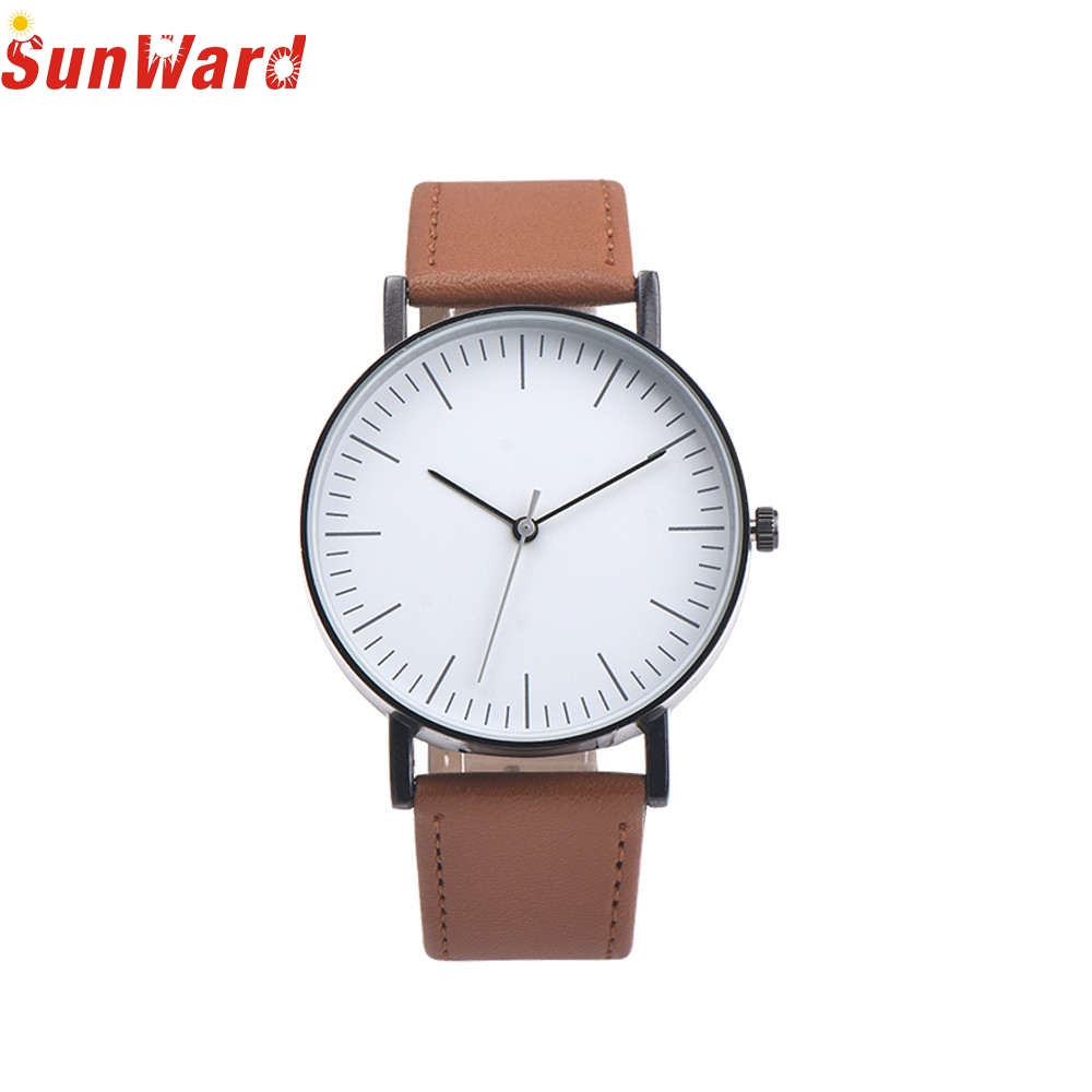 SunWard 2017 Hot High Quality relogio masculino Retro Design Leather Band Analog Alloy Quartz Wrist Watch watch men leather band analog alloy quartz wrist watch relogio masculino hot sale dropshipping free shipping nf40