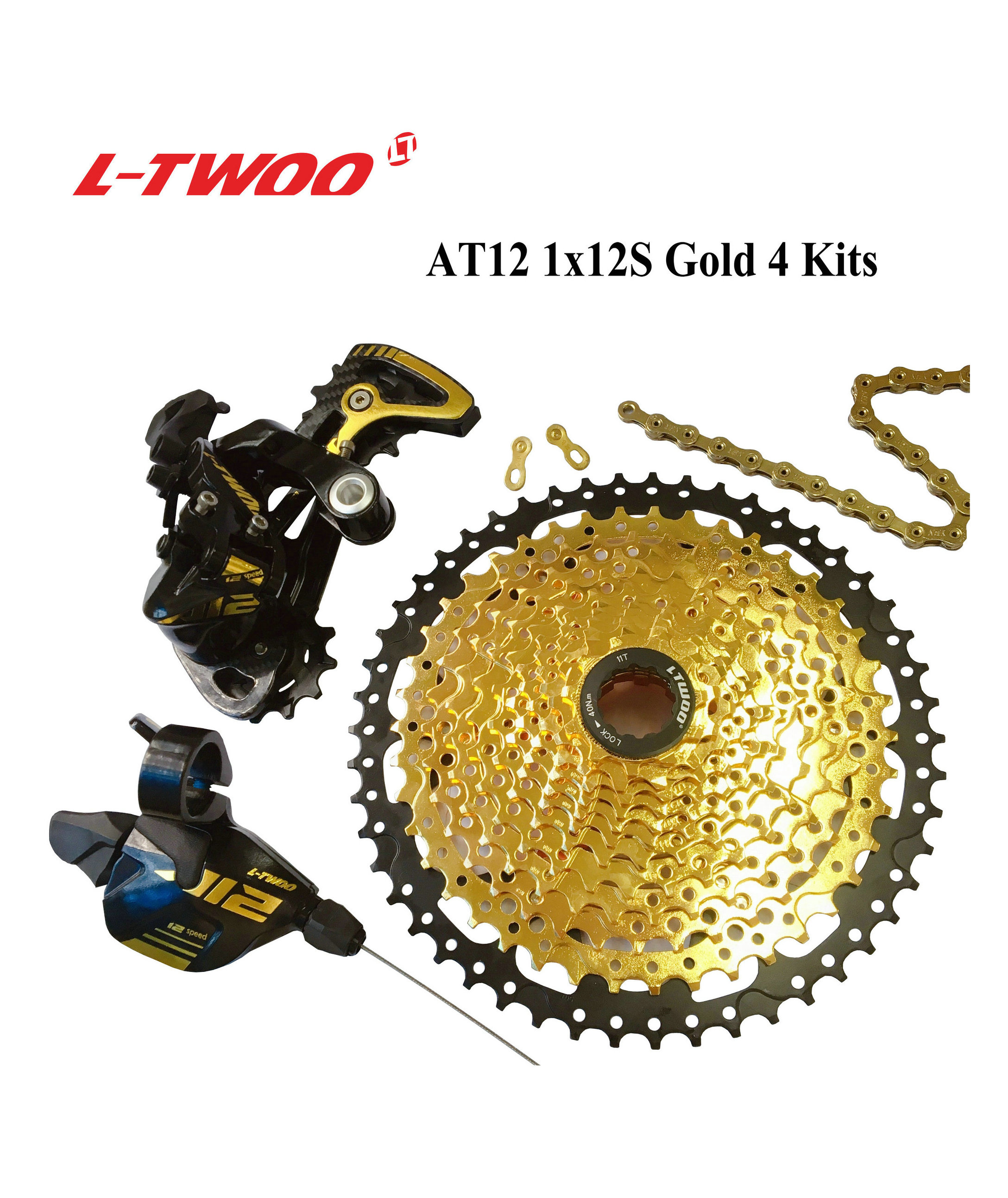 LTWOO Bicycle AT12 12 Speed Shifter lever Rear Derailleur 12s Cassette 50T Chain EAGLE GX M9100