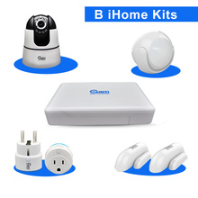 COOLCAM B iHome Kits Smart Home Automation Door Sensor PIR Sensor WIFI Power Socket And Wireless HD Camera