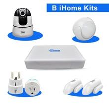 COOLCAM B iHome Kits Smart Home Automation Door Sensor PIR Sensor WIFI Power Socket And Wireless HD Camera