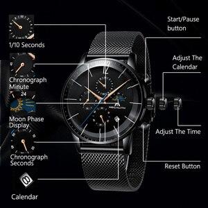 Image 4 - MEGALITH Sport Chronograph Uhr Männer Mode Wasserdicht Montre Homme Männer Datum Analog Quarz Armbanduhr Uhr Relogio Masculino